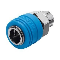 ENCHUFE RAPIDO HEMBRA 8 MM ROSCA 1/4 GAS MACHO FESTO 2143 KD4-1/4-A
