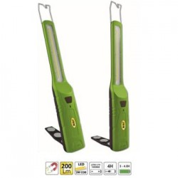 LAMPARA PORTATIL SLIM LED COB CON BASE ARTICULADA 52854 JBM